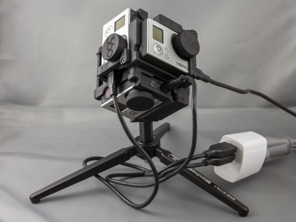 Charging the cameras while inside the Freedom360