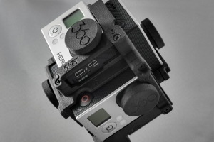 Small and compact mount for 360 video, Freedom360 mount, including lens caps (v5.08)