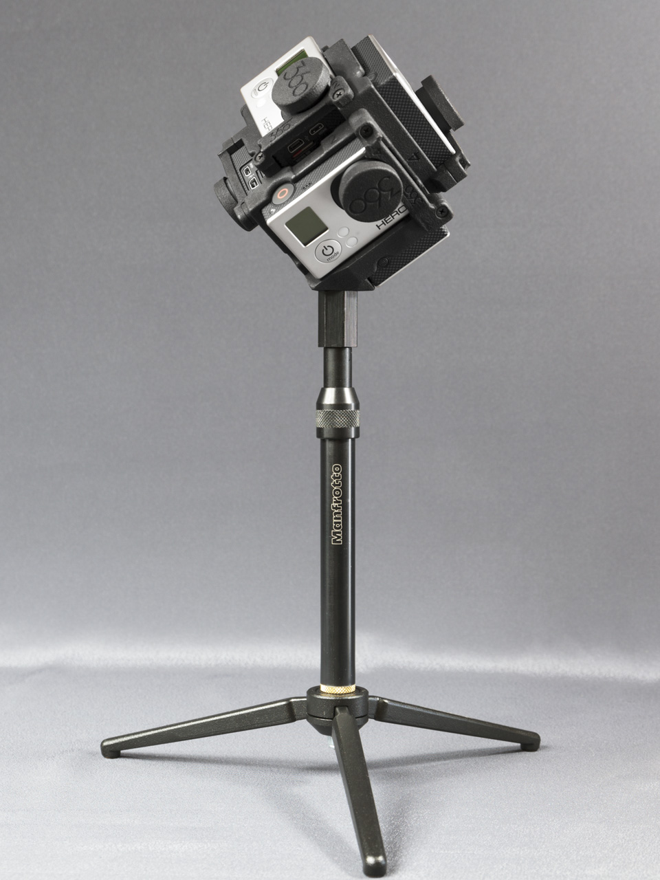 Manfrotto 209 mini tripod plus extension (with Freedom360)