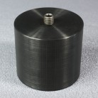 Counterweight (500gr), stackable with male/female 3/8 connectors on each end, black-anodized alu