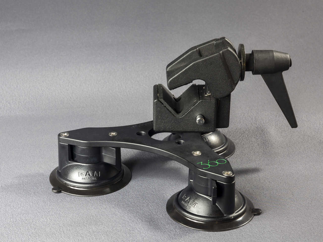 Tri-Base Suction Cup Mount V2 for alternative use
