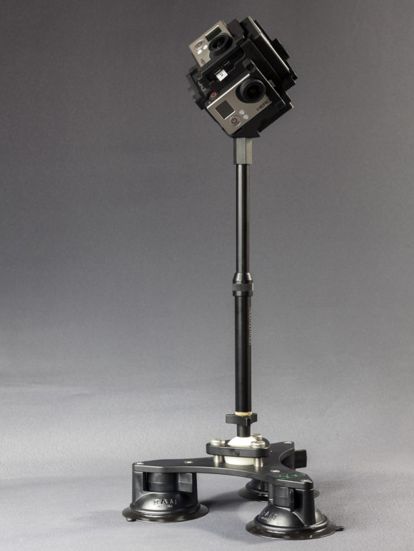 Tri-Base Suction Cup Mount V2 with F360 and short pole