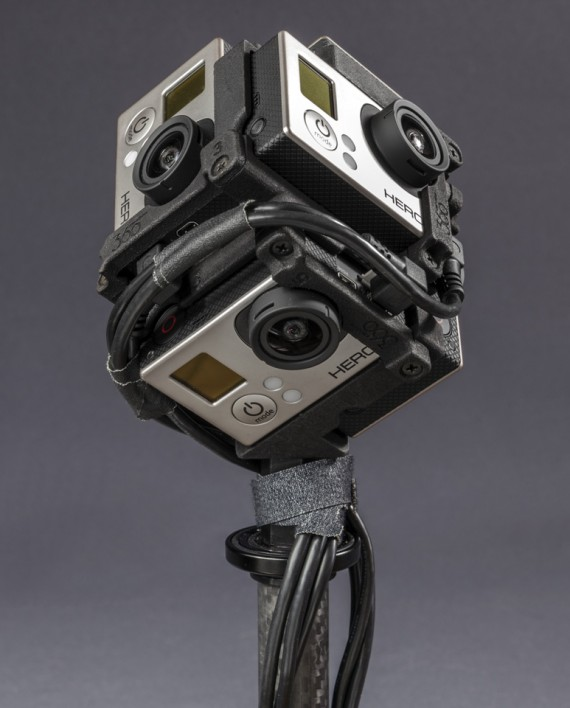 Freedom360 mount with 6 angled USB cables attached