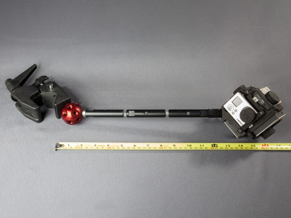 Short pole example with angled DADO, super clamp and Freedom360 mount