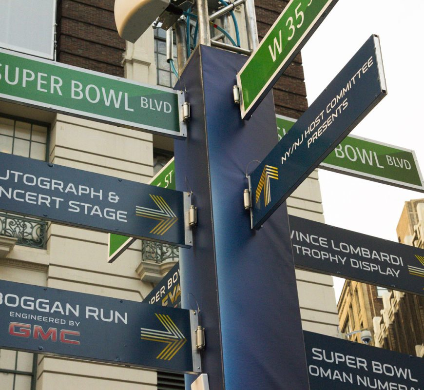 Super Bowl XLVIII Boulevard in NYC
